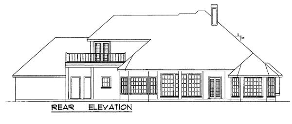 European House Plan 77117 Rear Elevation