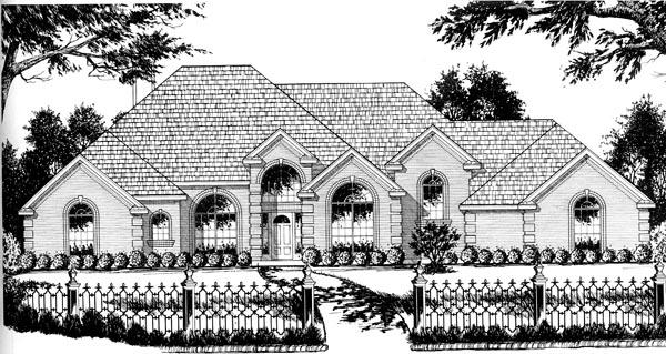 European House Plan 77118 Elevation