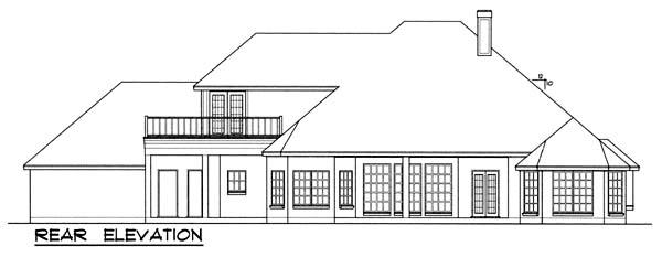 European House Plan 77118 Rear Elevation
