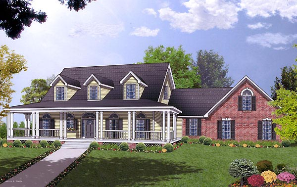Country House Plan 77120 Elevation