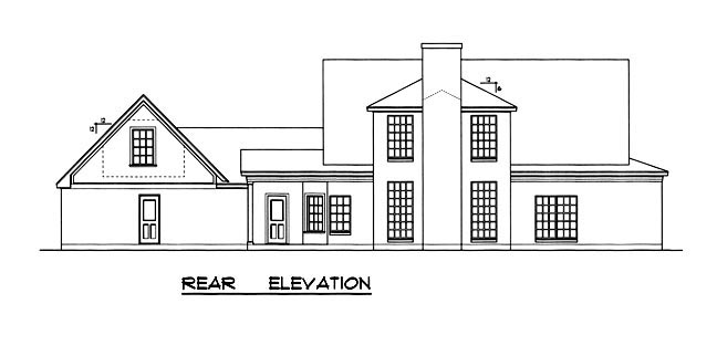Country House Plan 77120 Rear Elevation