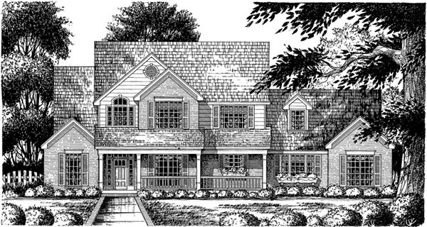 Country Farmhouse House Plan 77124 Elevation