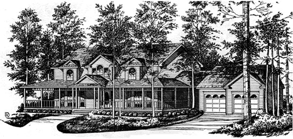 Country House Plan 77126 Elevation