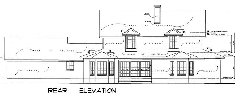 Country House Plan 77126 Rear Elevation