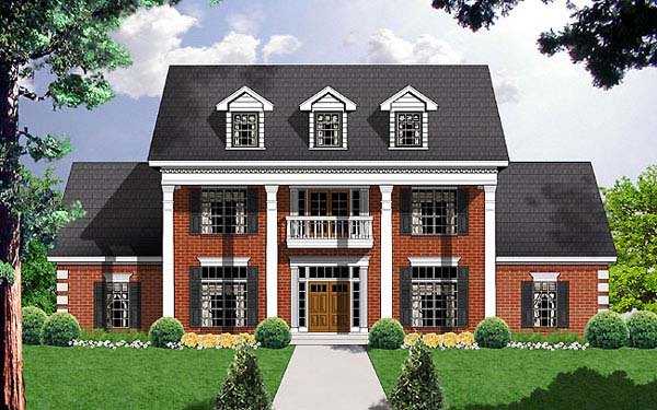 Colonial Southern House Plan 77129 Elevation