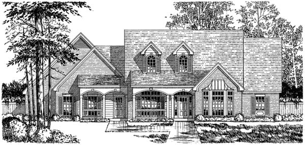 Country Traditional House Plan 77130 Elevation