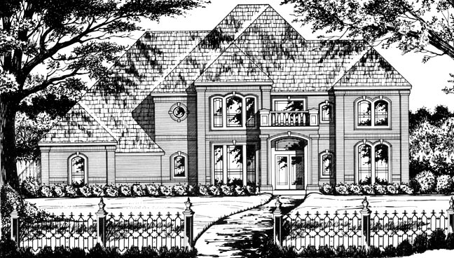 European Victorian House Plan 77131 Elevation
