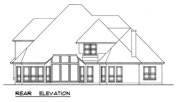 European Victorian House Plan 77131 Rear Elevation