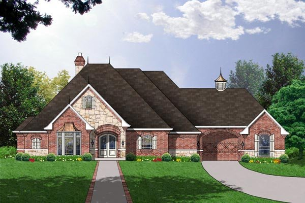 European Victorian House Plan 77132 Elevation