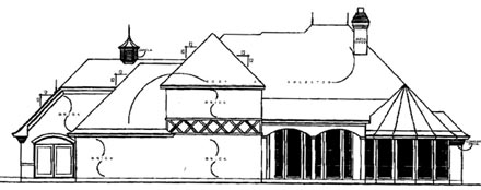 European Victorian House Plan 77132 Rear Elevation