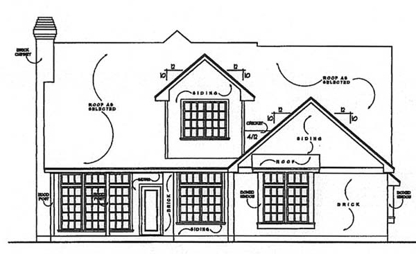 House Plan 77135 | Country Traditional Style Plan with 2000 Sq Ft, 3 Bedrooms, 2.5 Bathrooms, 2 Car Garage Rear Elevation