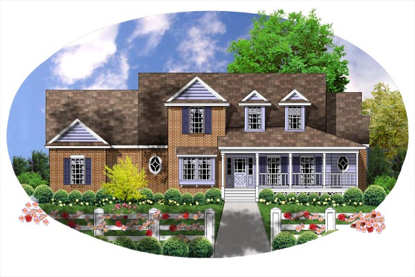Farmhouse House Plan 77136 Elevation