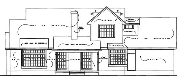 Farmhouse House Plan 77136 Rear Elevation