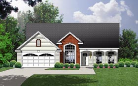 Country Traditional House Plan 77142 Elevation