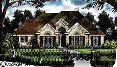 European One-Story Traditional Elevation of Plan 77146