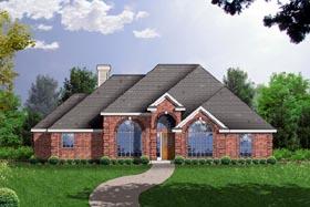European Traditional House Plan 77149 Elevation