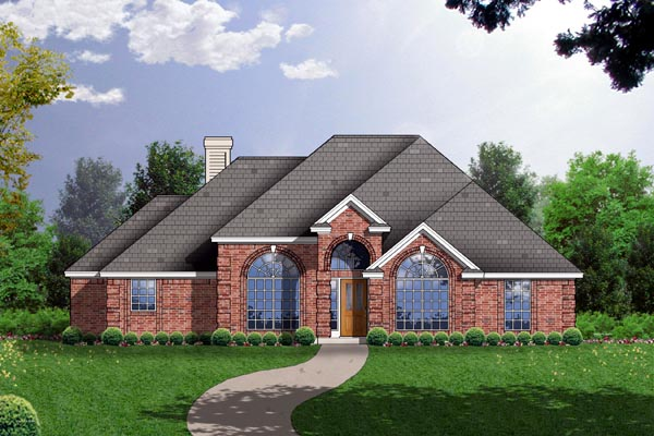European Traditional House Plan 77149 Elevation