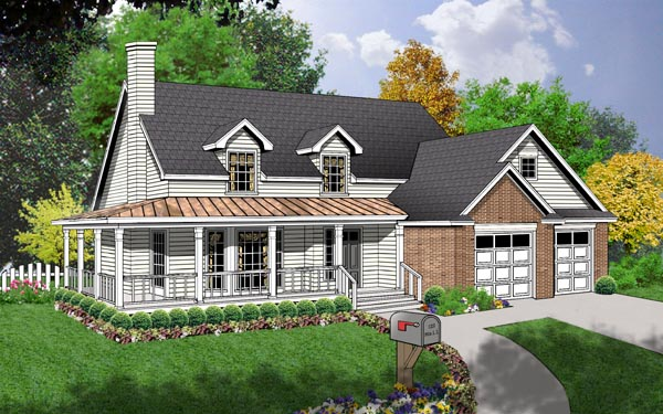 Country House Plan 77150 Elevation