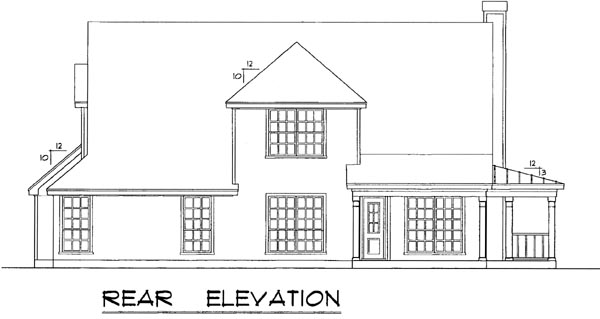 Country House Plan 77150 Rear Elevation
