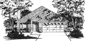 Traditional House Plan 77164 Elevation