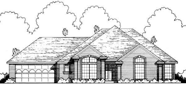 Traditional House Plan 77166 Elevation