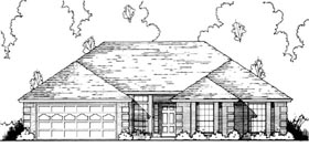 Traditional House Plan 77167 with 4 Beds, 2 Baths, 2 Car Garage Elevation
