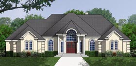 House Plan 77171 | European Style Plan with 2149 Sq Ft, 3 Bedrooms, 2 Bathrooms, 2 Car Garage Elevation