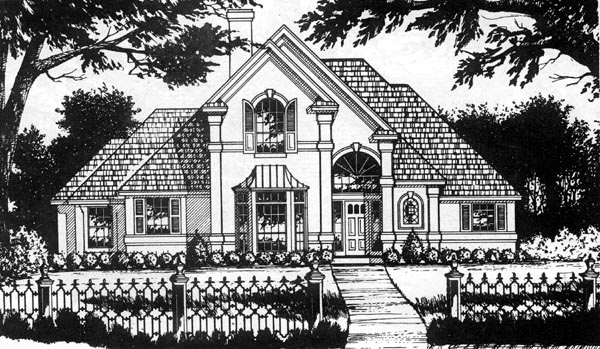 European House Plan 77172 Elevation