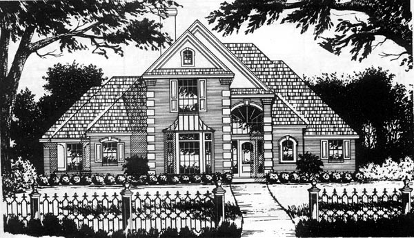 European Traditional House Plan 77173 Elevation