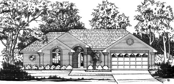 European Traditional House Plan 77178 Elevation