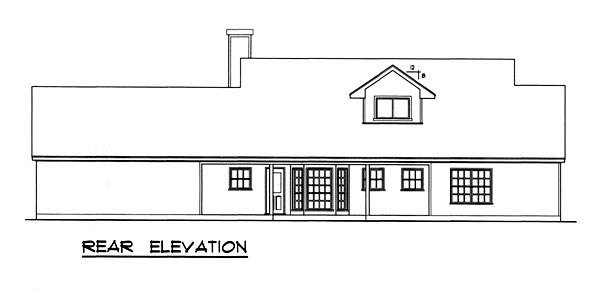 Cape Cod Country House Plan 77183 Rear Elevation