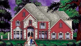 Traditional House Plan 77185 with 4 Beds, 3 Baths, 3 Car Garage Elevation