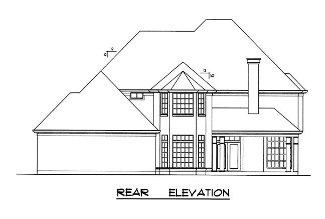 Traditional House Plan 77185 Rear Elevation