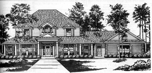 Traditional House Plan 77186 Elevation