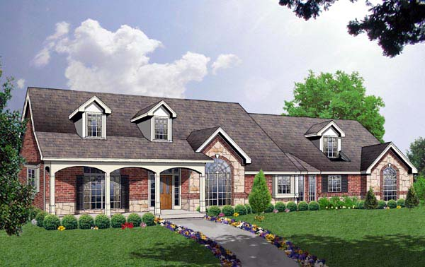 Country House Plan 77188 Elevation