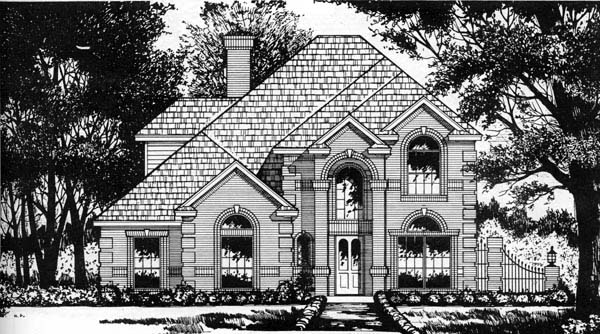 European Traditional House Plan 77193 Elevation