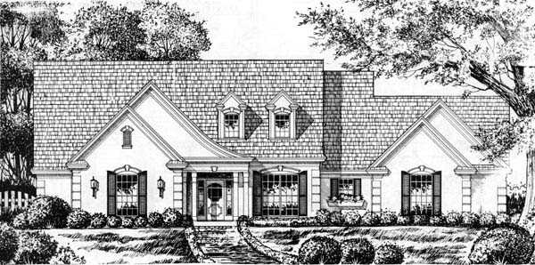 European Traditional House Plan 77195 Elevation