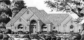 Country , European House Plan 77196 with 4 Beds, 2 Baths, 2 Car Garage Elevation