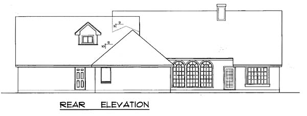 Country Traditional House Plan 77197 Rear Elevation