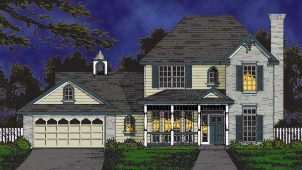 Country Traditional House Plan 77199 Elevation