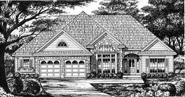 Traditional House Plan 77201 Elevation
