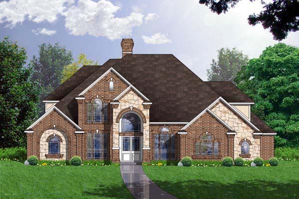 European House Plan 77208 Elevation