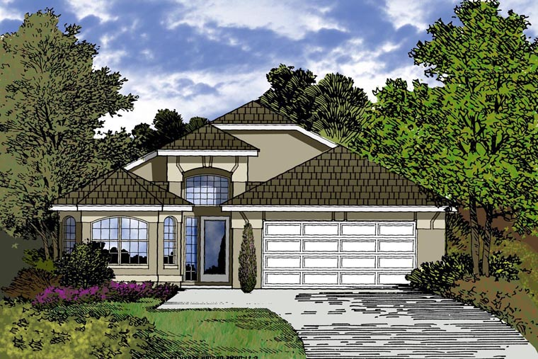 Contemporary House Plan 77312 Elevation