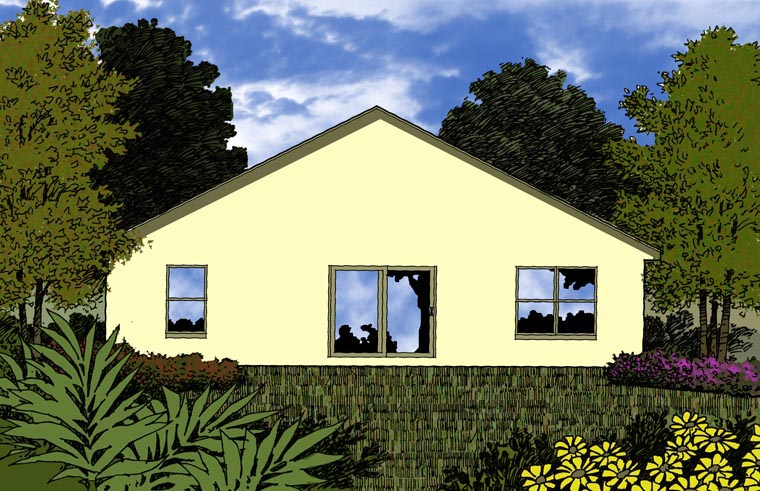 Contemporary House Plan 77312 Rear Elevation