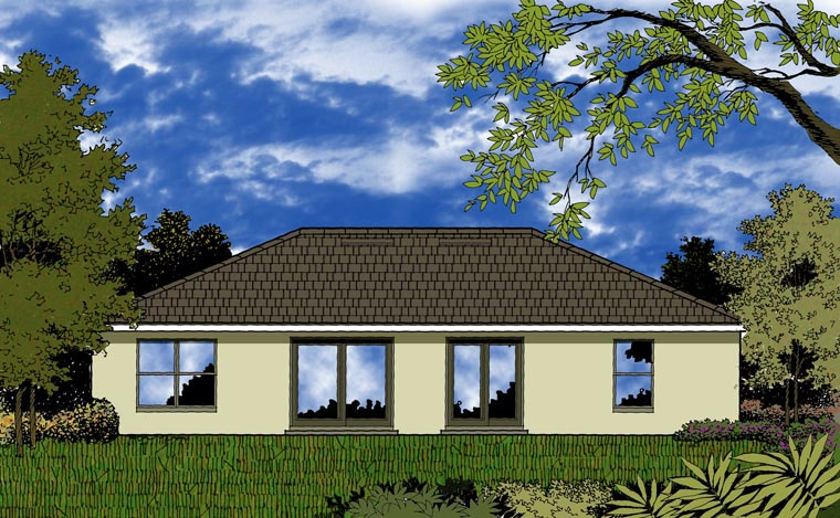 Contemporary House Plan 77313 Rear Elevation