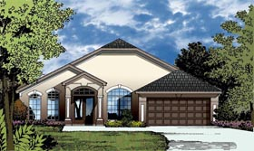 Traditional House Plan 77336 with 3 Beds, 2 Baths, 2 Car Garage Elevation