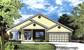 Traditional House Plan 77337 with 3 Beds, 2 Baths, 2 Car Garage Elevation