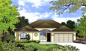 Traditional House Plan 77339 with 3 Beds, 2 Baths, 2 Car Garage Elevation