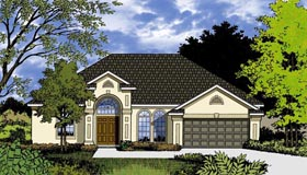 Contemporary House Plan 77342 with 3 Beds, 2 Baths, 2 Car Garage Elevation