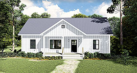 Cottage , Country House Plan 77400 with 3 Beds, 2 Baths Elevation